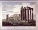 The Temple of Jupiter Olympius & The Parthenon at Athens- A Pair - Image 1