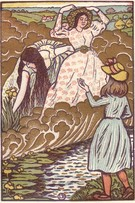 In The Field - A Woodcut in Five Blocks by Lucien Pissarro - Image 1