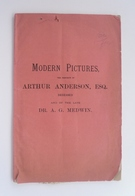 Catalogue Of Important Modern Pictures - May 1894 - Image 1